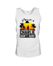 Charlie Dont Surf Unisex Tank thumbnail