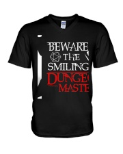 The Smiling Dungeon Master V-Neck T-Shirt thumbnail