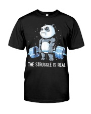 Weight Lifting The Struggle Classic T-Shirt front