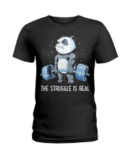 Weight Lifting The Struggle Ladies T-Shirt thumbnail