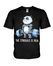 Weight Lifting The Struggle V-Neck T-Shirt thumbnail
