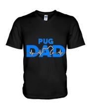 Pug Dad V-Neck T-Shirt thumbnail