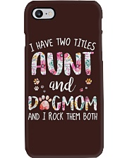Aunt And Dog Mom Phone Case tile