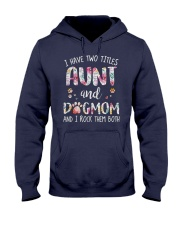 Aunt And Dog Mom Hooded Sweatshirt thumbnail