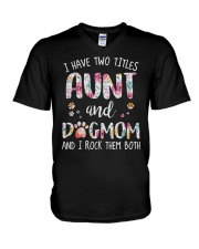 Aunt And Dog Mom V-Neck T-Shirt tile