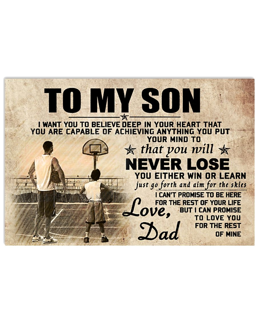 DAD AND SON BASKETBALL 17x11 Poster