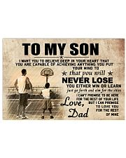 DAD AND SON BASKETBALL 17x11 Poster front