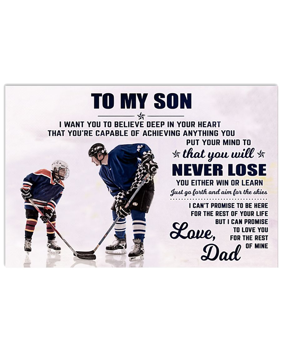 DAD AND SON HOCKEY 17x11 Poster