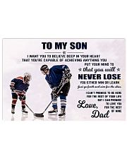 DAD AND SON HOCKEY 17x11 Poster front