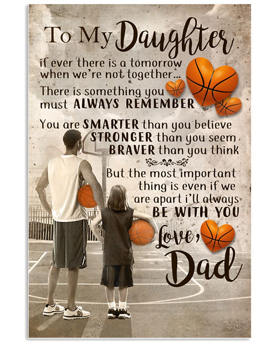 DAD AND DAUGHTER BASKETBALL 11x17 Poster