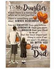 DAD AND DAUGHTER BASKETBALL 11x17 Poster front