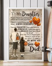DAD AND DAUGHTER BASKETBALL 11x17 Poster lifestyle-poster-4