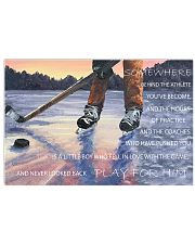HOCKEY FOR  MEN 17x11 Poster front