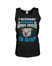 I support putting animal abusers to sleep Unisex Tank thumbnail