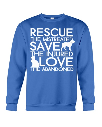 RESCUE SAVE LOVE DOG AND CAT Tshirt