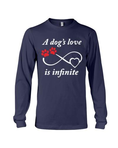 a dog's love is infinite Tshirt