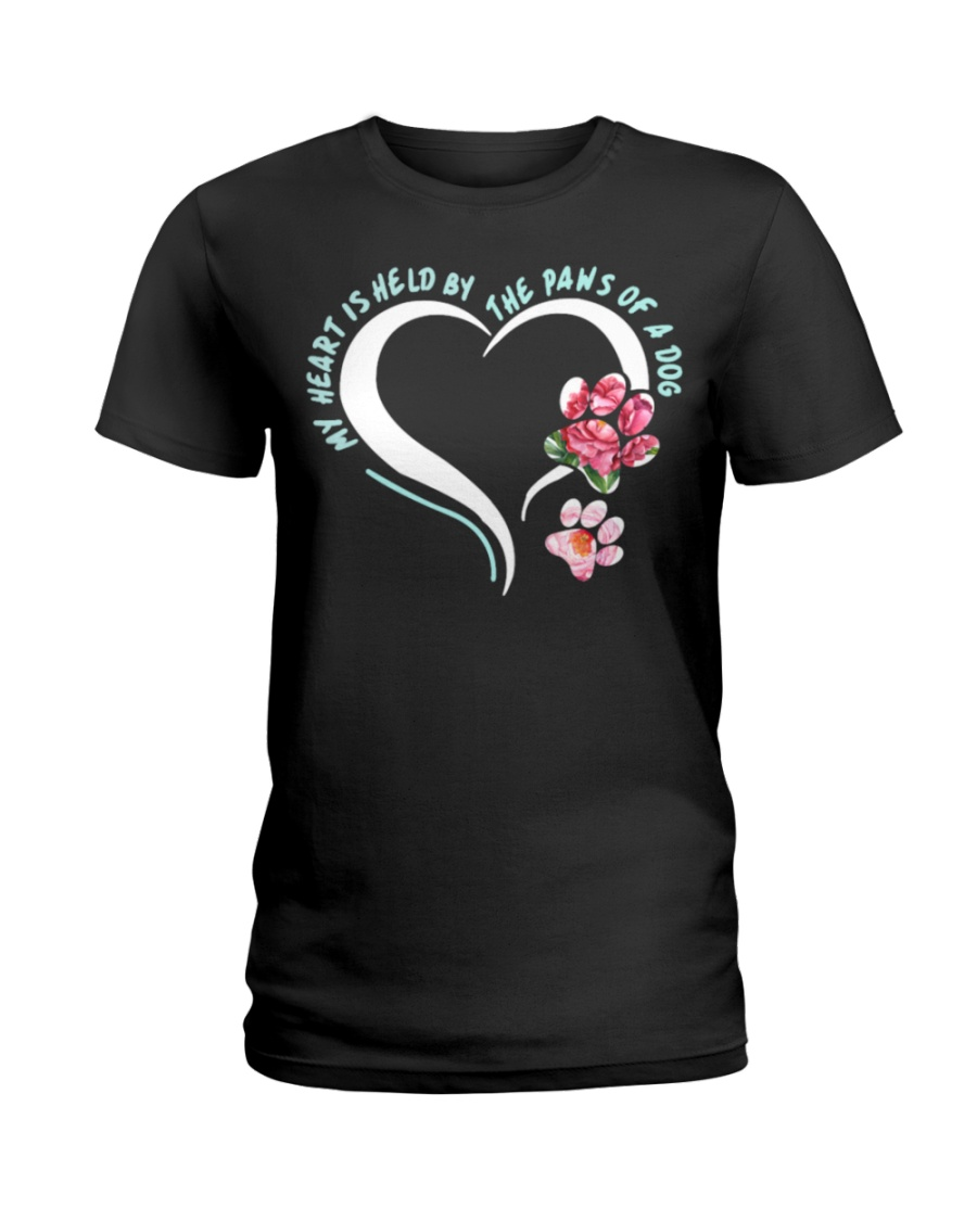 My Heart Is Held By The Paws Of A Dog Ladies T-Shirt