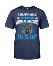 I support putting animal abusers to sleep Premium Fit Mens Tee thumbnail