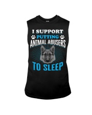 I support putting animal abusers to sleep Sleeveless Tee thumbnail