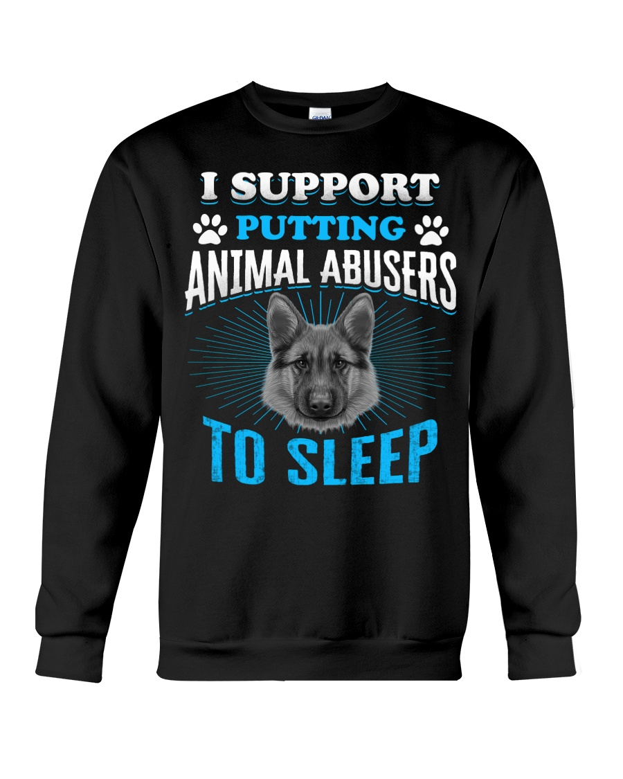 I support putting animal abusers to sleep Crewneck Sweatshirt