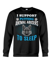 I support putting animal abusers to sleep Crewneck Sweatshirt thumbnail