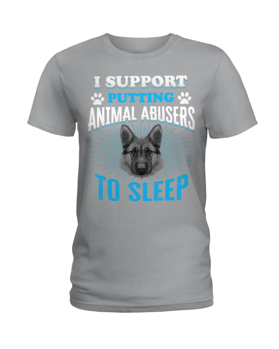 I support putting animal abusers to sleep Ladies T-Shirt