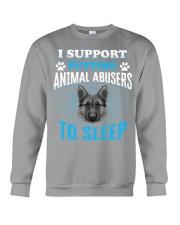 I support putting animal abusers to sleep Crewneck Sweatshirt front
