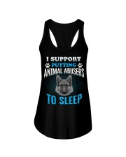 I support putting animal abusers to sleep Ladies Flowy Tank thumbnail