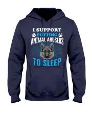 I support putting animal abusers to sleep Hooded Sweatshirt thumbnail