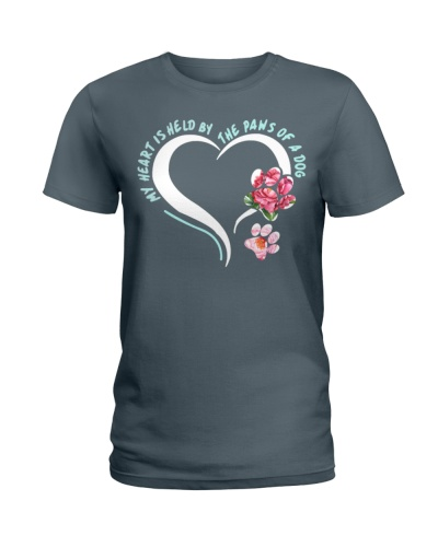 My Heart Is Held By The Paws Of A Dog Tshirt