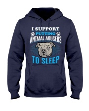 I support putting animal abusers to sleep Hooded Sweatshirt thumbnail