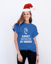 Easily Distracted By Horses Shirt Classic T-Shirt lifestyle-holiday-crewneck-front-1