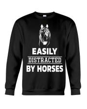 Easily Distracted By Horses Shirt Crewneck Sweatshirt thumbnail