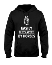 Easily Distracted By Horses Shirt Hooded Sweatshirt thumbnail
