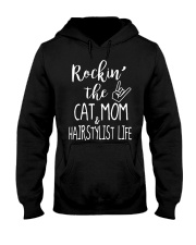Rockin The Cat Mom and Hairstylist Life T-shirt Hooded Sweatshirt thumbnail