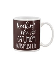 Rockin The Cat Mom and Hairstylist Life T-shirt Mug tile