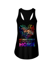 By The Paws Of A Horse Shirts Ladies Flowy Tank thumbnail