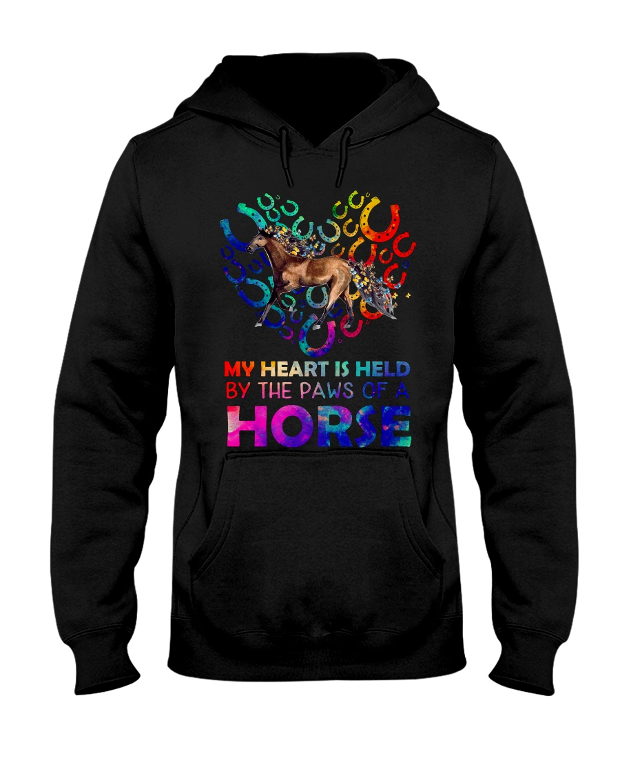 By The Paws Of A Horse Shirts Hooded Sweatshirt