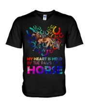 By The Paws Of A Horse Shirts V-Neck T-Shirt thumbnail