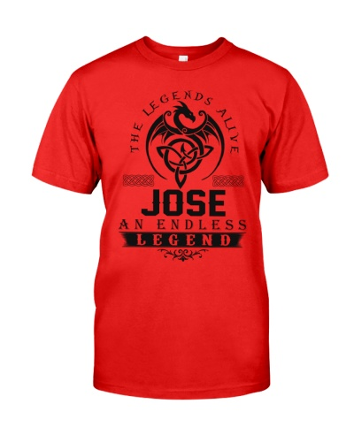 Jose An Endless Legend Alive T-Shirts