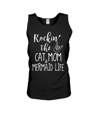 Rockin The Cat Mom and Mermaid Life T-shirt Unisex Tank thumbnail