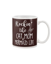 Rockin The Cat Mom and Mermaid Life T-shirt Mug thumbnail