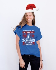 Horse Zombies Tshirts Classic T-Shirt lifestyle-holiday-crewneck-front-1