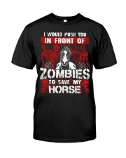 Horse Zombies Tshirts Premium Fit Mens Tee tile