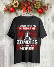 Horse Zombies Tshirts Premium Fit Mens Tee lifestyle-holiday-crewneck-front-2
