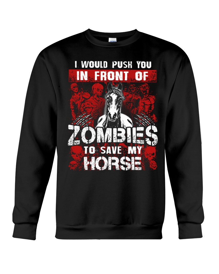 Horse Zombies Tshirts Crewneck Sweatshirt