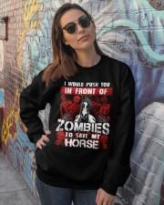 Horse Zombies Tshirts Crewneck Sweatshirt lifestyle-unisex-sweatshirt-front-3