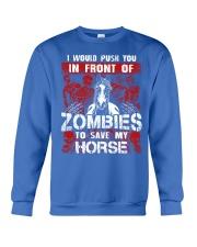 Horse Zombies Tshirts Crewneck Sweatshirt front