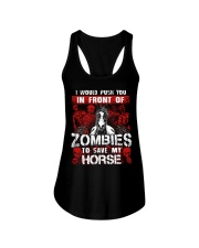 Horse Zombies Tshirts Ladies Flowy Tank tile