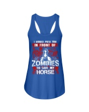 Horse Zombies Tshirts Ladies Flowy Tank front